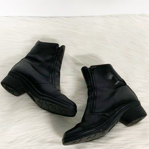 Mephisto Shoes - Mephisto | Black Leather Ankle Zip-up Boots
